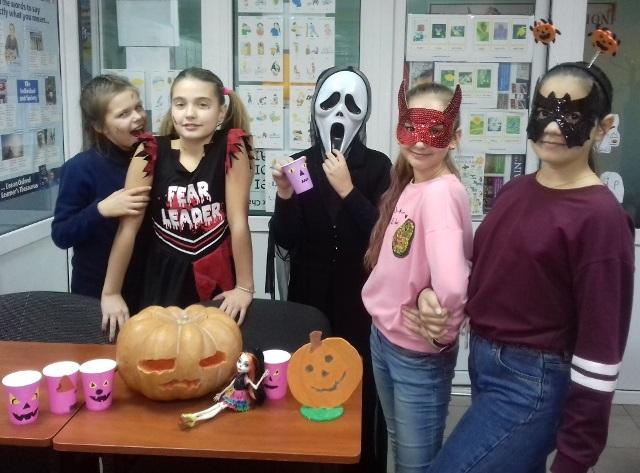 Урок английского - веселый Хеллоуин